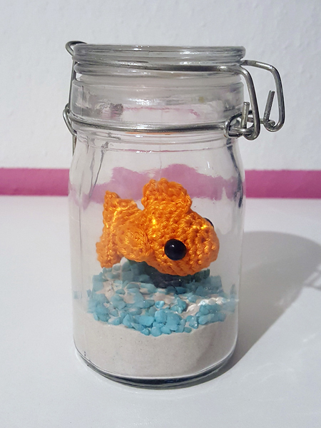 Fish in a jar